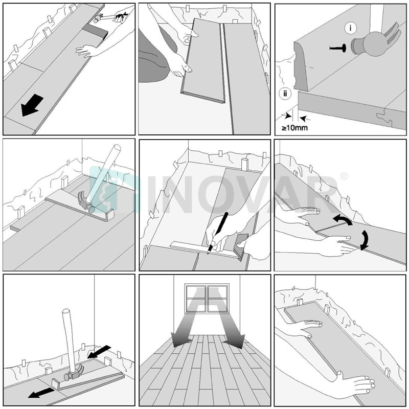 Hướng dẫn cách lắp sàn nhựa