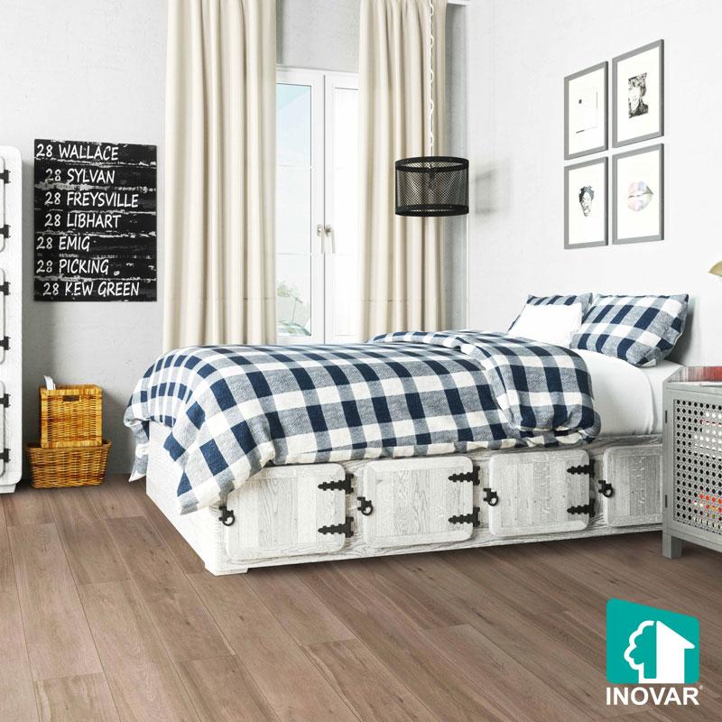 sàn gỗ công nghiệp cho phòng ngủ