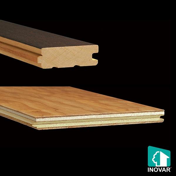 sàn kỹ thuậtsẽ được ghép từ nhiều lớp gỗ lại khác nhau